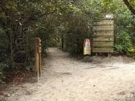 Trilha que leva as praias de Fora, Praia Grande e outros Pontos Turísticos.