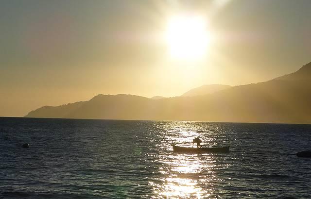 O p�r do sol mais lindo da Ilha