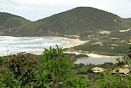 Vista da estrada que leva à Praia do Rosa
