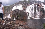 Cachoeira dentro do Parque Nacional
