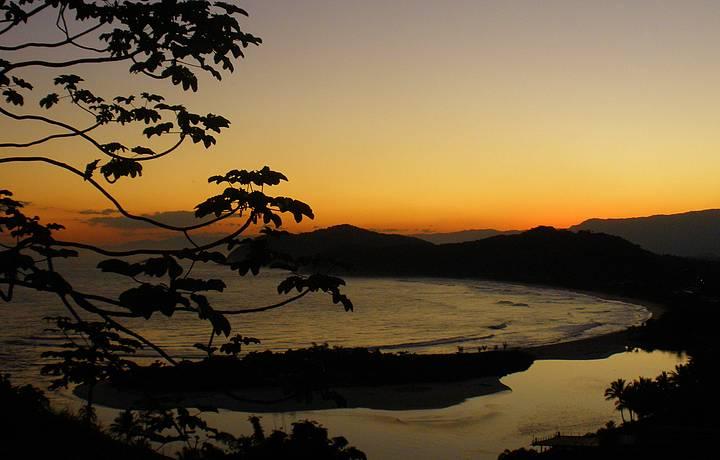 Fins de tarde belos são típicos na região