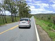 Pé na estrada em Diamantina-MG
