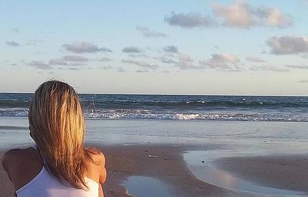 Observando o mar...