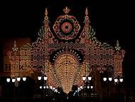 Natal de Luz - decoração na rua XV, no calçadão de Curitiba.