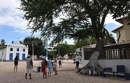 Rusticidade - Ruas da vila tem chão de areia