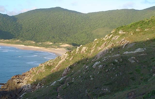 Vista da praia a partir da trilha pro Matadeiro