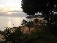 Um lindo final de tarde na praia