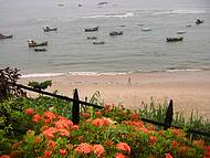 Vista da praia.