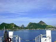 Vista do catamarã de Charitas.