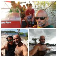 Passeio de lancha no Lago Azul