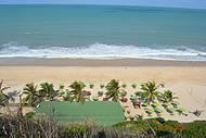 Vista panorâmica da praia