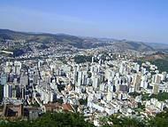 Vista parcial da cidade, foto tirada do morro da Cristo.