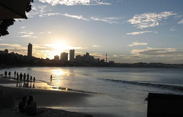 Pôr-do-sol no paraíso