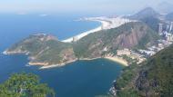 Vista da Praia Vermelha e ao fundo, Copacabana.