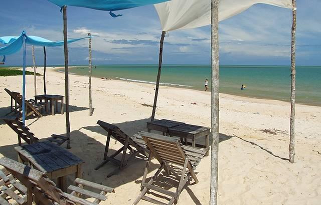 Barraca de praia no paraíso!