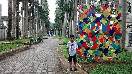 Rua das Palmeiras - Ao final da rua a Casa do Príncipe
