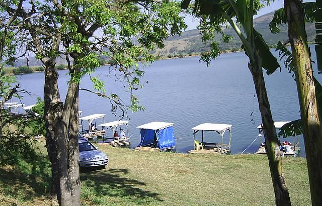 Vista do Salão de Jogos para os Pesqueiros.