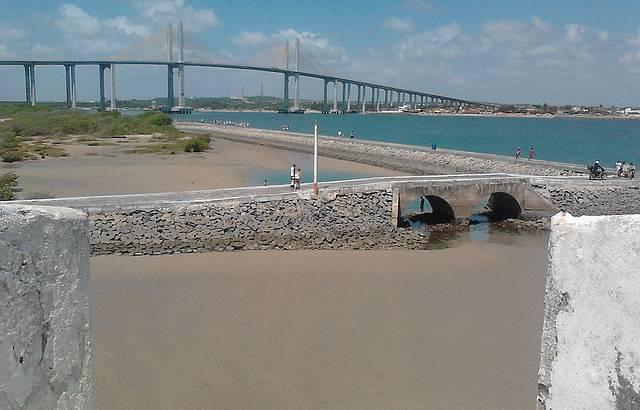Ponte Newton Navarro vista da Fortaleza dos Reis Magos