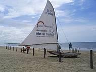 Praia tranquila em Fortaleza