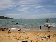 A tranquila praia de Taquaras