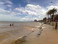 A principal praia da cidade