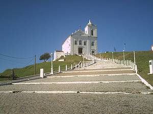 Apreciar a vista da Igreja de Nossa Senhora de Nazaré