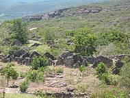 No entorno de Igatu, antigo bairro dos garimpeiros e suas casas em pedra
