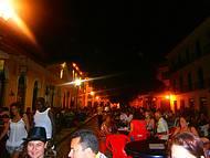 Movimento noturno centro histórico