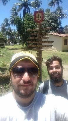 Placa no início da trilha
