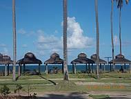 Cabanas a beira-mar