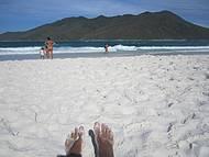 Areias brancas.