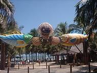Local que d� acesso a Praia do Beach Park