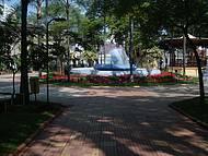 Uma Bela Praça,jardins, Coreto e uma Fonte