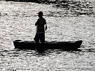 O Pescador ao amanhecer.
