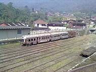 Vista da antiga estação de trem