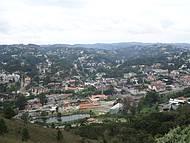Vista parcial observada do Morro do Elefante