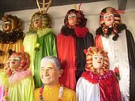 Bonecos em exposição em Olinda