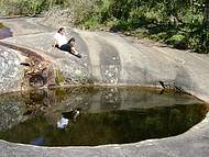 Piscina natural no alto do Parque