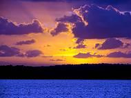 Pôr do sol da praia do Jacaré