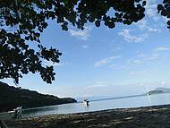 Fim de tarde de paz na praia do Pouso
