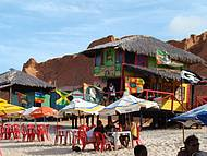 O colorido das barracas em Canoa Quebrada!