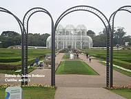 Entrada do Jardim Botânico.