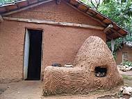 Representação de um quilombo.