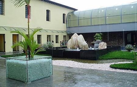 Vista do pátio interno do Museu José Liberto