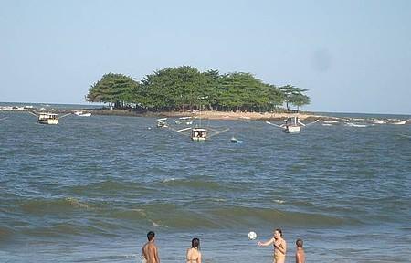 Praia do Grant - Banho na prainha da ilha...