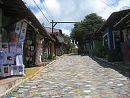 Rua de Pipa de calçada multicolor