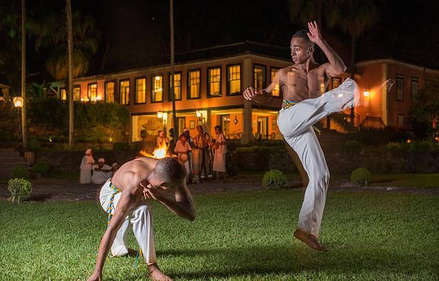 Capoeira é uma das atrações