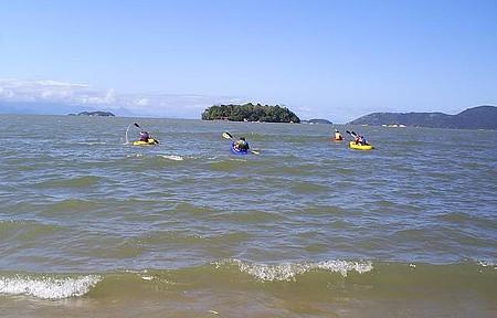 Passeio de caiaque na praia do Jabaquara