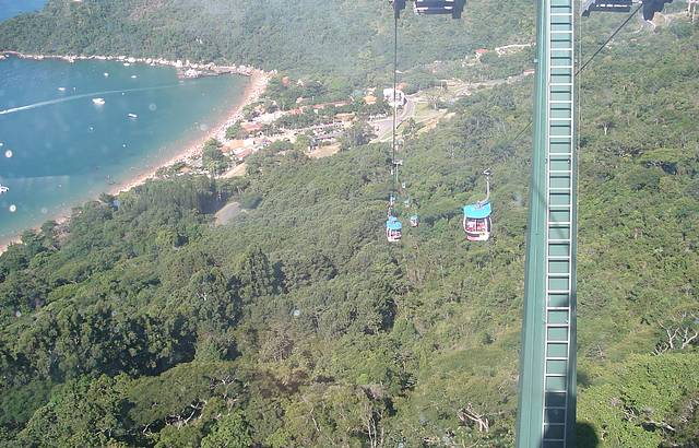 Na descida do Teleférico