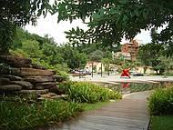 Vista parcial da bela praça